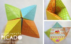 Papel Picado: { Juego de Origami } Invitaciones de cumpleaños