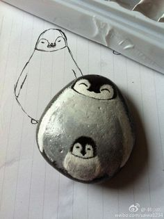 Painted Rock penguins | Found on duitang.com