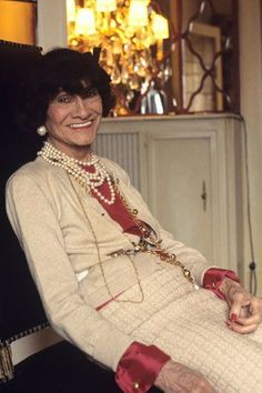 """Life according to Coco Chanel, 1969: """"I am not young, but I feel young.... J'aime la vie! I feel that to live is a wonderful thing."""""""