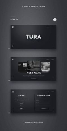 UI design on Behance - - Entwurf Tura. UI design on Behance Best Picture For Web Design for beginners For Your Taste You are looking for something, and it Ui Ux Design, Web And App Design, Minimal Web Design, Logo Design, Web Design Trends, Web Design Black, Flat Design, Modern Web Design, Web Design Gallery