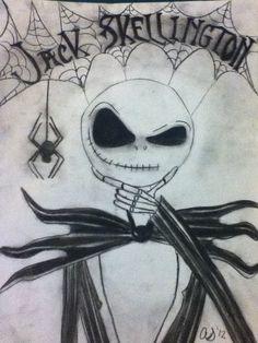 drawings of jack skeleton - Google Search