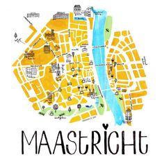 Map of Maastricht Eindhoven, Amsterdam, Paris Map, Vintage Maps, Map Design, City Maps, Okinawa Japan, Tour Eiffel, Foodie Travel