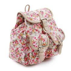Floral Mini Backpack for Women Small School Bags Bookbag Backpacks Ivory 1 | eBay