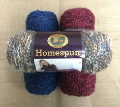 Enter to win 3 skeins of Lion Brand Homespun Yarn! Giveaway compliments of AllFreeCrochet and Lion Brand.