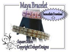 Maya Bracelet  Tila Beading Pattern Tutorial by DebgerDesigns, $7.50