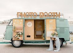 Oh my word! Vintage mint VW bus photo booth.