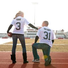Football jersey save the dates! cute