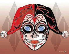 Sugar Skull Harley Quinn, how awesome!