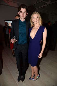 Matthew Beard with Natalie Dormer. SO wish I was him in this picture.