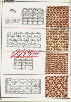 "Photo from album ""esp puntos"" on Yandex. Crochet Collar Pattern, Crochet Diagram, Crochet Chart, Crochet Stitches, Crochet Top, Crochet Patterns, Stitch Patterns, Shabby Chic, Monogram"