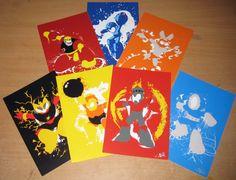 Robot Masters of Mega Man 1 Mini-Print set. $14.00, via Etsy.