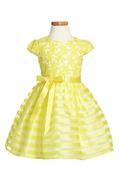 Us Angels Cap Sleeve Organza Dress (Toddler Girls, Little Girls & Big Girls) available at #Nordstrom