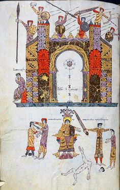 Siege of Jerusalem The Silos Beatus Codex Commentary on the Apocalypse by Beatus of Liébana, Spain, 1090-1109AD British Library Add. MS 11695.