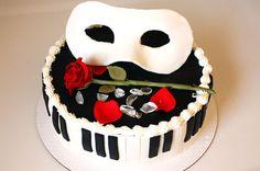 Pretty Cakes, Cute Cakes, Beautiful Cakes, Amazing Cakes, Masquerade Cakes, Masquerade Party, Opera Cake, Occasion Cakes, Phantom Of The Opera