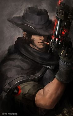 "overwatch-fan-art: ""Blackwatch McCree by Meiikiko "" Overwatch Comic, Overwatch Fan Art, Overwatch Genji, Blackwatch Mccree, Overwatch Wallpapers, Heroes Of The Storm, Widowmaker, Starcraft, Paladin"