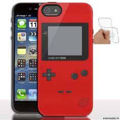 Étui iphone 5 en Silicone personnalisé Game Boy Rouge - Coque souple - Gel - Pour Apple iPhone 5s, iPhone 5. #Silicone #iPhone5s #GameBoy