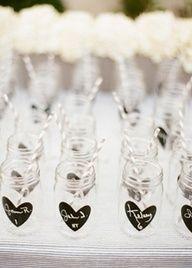 personalized mason jars as escort cards  wedding favors