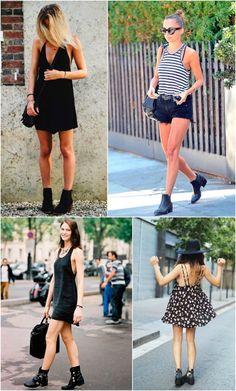 Ideias de looks com bota e roupas frescas