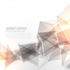 Geometric background with light effect Free Vector