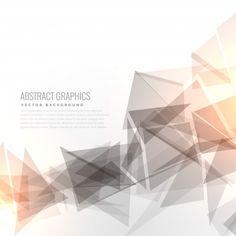 Fondo geométrico con efecto de luz Vector Gratis