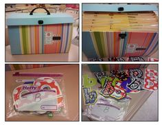 bulletin board letter organization - buy a file case and sort by letter (put in ziploc bags). genius time saver instead of sifting through for letters you need!