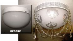 How to Make Over a Ceiling Light Fixture