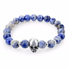 Adorable Skull Bead Bracelets - Material: Stone - Length: 19cm(stretch) Click ADD TO CART To Order Yours Now! 100% Satisfaction Guaranteed With Every Order.