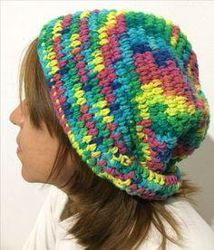 Gorro a crochet: Ganchillo de 5mm/ lana de 5mm 100% algodón 100g aproximadamente/ Punto alto / By: GM