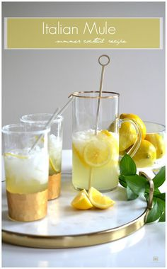 Summer Cocktail Recipe: ITALIAN MULE - - Today's post features my mouth-watering Italian Mule that is a perfect summer cocktail! Italian Cocktails, Cocktail Drinks, Fun Drinks, Yummy Drinks, Beverages, Paloma Cocktail, Cocktail List, Drinks Alcohol, Alcohol Recipes