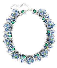 Look what I found on #zulily! Peacock Crystal Verena Statement Necklace #zulilyfinds