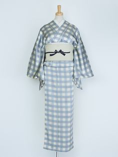 DOUBLE MAISON | Do~uburu kimono, gray check