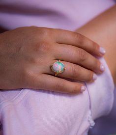 714abc413 18k Ethiopian Opal Ring - Audry Rose Ethiopian Opal Ring, Audry Rose, Gold  Set