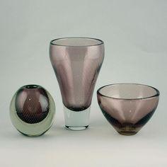 Purple Vase, Glass Art, Bubbles, Tableware, Mid Century, Tags, Artist, Design, Decor