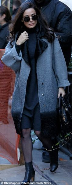 Demi Moore sports two glamorous looks on set of new movie Blind | Daily Mail Online