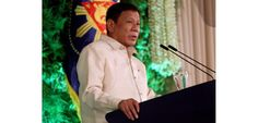 "NEWLY ELECTED PRESIDENT OF THE PHILIPPINES RODRIGO DUTERTE TELLS PEOPLE TO ""GO AHEAD AND KILL"" DRUG ADDICTS AND DRUG DEALERS. The controversial figure is known for his hardline stance on crime, with his favoured position to simply kill people he regards as lawbreakers.  Duterte was sworn into office June 30, 2016."