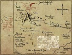 got a full size copy of this map with the book the hobbit chronicles art design