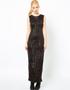 Motel Cherry Diamond Sequin Maxi Dress