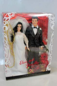 shopgoodwill.com: Barbie Collector Pink Lbel Elvis and Pricilla Dol