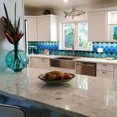 Florida Keys Moroccan Fish Scales Kitchen - We are loving this popular shape of Moroccan Fish Scales!