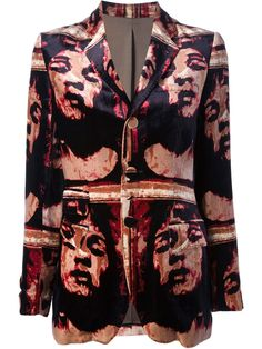 Jean Paul Gaultier Vintage Printed Velvet Jacket - House Of Liza - Farfetch.com