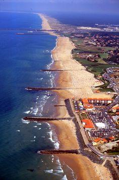 Côte basque : plages d'Anglet: