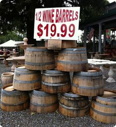 Finding Old Vintage Wine Barrels for Great DIY Projects for Your Home! See More at thefrenchinspiredroom.com