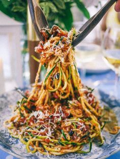 A simple zucchini noodle dish. | 24 Crazy Delicious Recipes That Are Super Low Carb