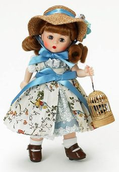 """Sweet Madame Alexander 8"""" """"Five Little Bluebirds"""" #45835."""
