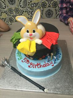 Great rabbit in a magic hat birthday cake!