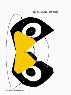 máscara de pinguino para armar