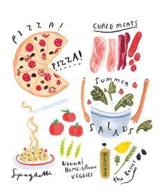 (illustration by Grace Lee) Cute Illustration, Digital Illustration, Portrait Illustration, Lightroom, Photoshop, Pinterest Instagram, Buch Design, Guache, Food Drawing
