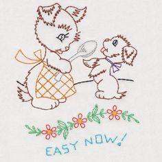 Vintage Animal Kitchen Helpers Colorwork - Embroidery Playground | OregonPatchWorks
