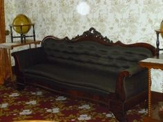 Exact replica of Lincoln's couch in his home in Springfield, Ill.