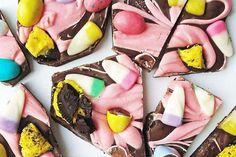 Easter Candy Bark from Gingerbread Bagels
